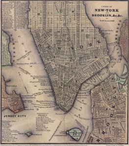 Map of Lower Manhattan, 1847