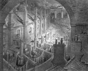 Victorian-era slums.  Image from http://mckaygardens.org