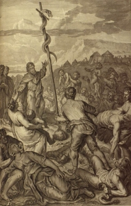 Figures_Moses_fixes_the_brazen_Serpent_on_a_pole