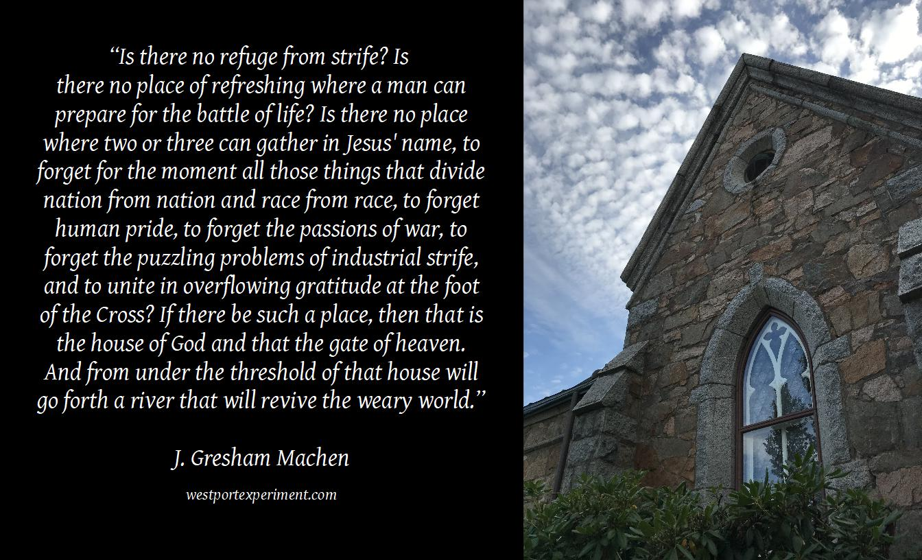 Machen, No refuge from strife