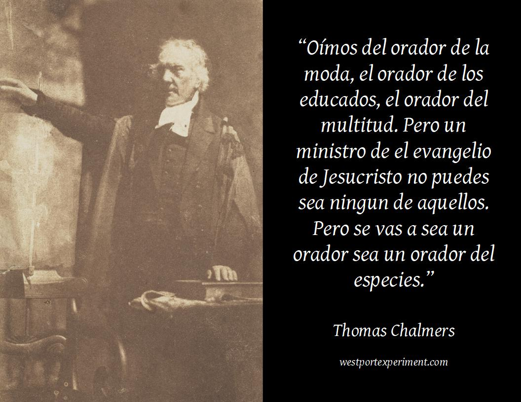Chalmers, Orator of the Species [Esp]